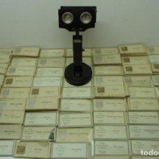 Cámara de fotos: LOTE DE 119 PAQUETES DE 15 FOTOS DE 1785 MAS VISOR ESTEROSCÓPICO DE SOBREMESA .. Lote 215885858