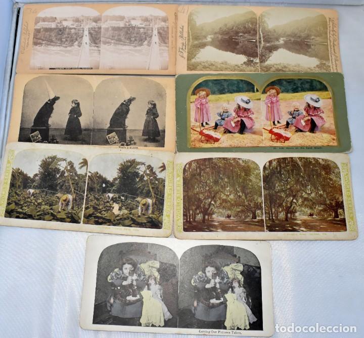 Cámara de fotos: SIGLO XIX. VISOR ESTEREOSCOPICO..ESTEREOSCOPIO, EN NOGAL+13 FOTOS.ARTESANAL.MUY BUEN ESTADO.FUNCIONA - Foto 14 - 216606155