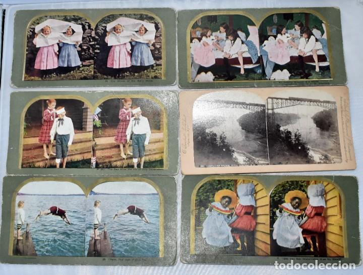 Cámara de fotos: SIGLO XIX. VISOR ESTEREOSCOPICO..ESTEREOSCOPIO, EN NOGAL+13 FOTOS.ARTESANAL.MUY BUEN ESTADO.FUNCIONA - Foto 16 - 216606155