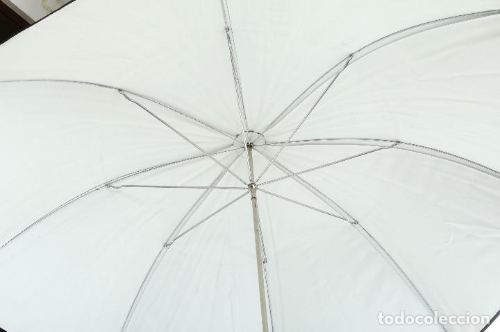 Cámara de fotos: Antiguo paraguas reflector Eurosimer para fotografía de estudio - Foto 3 - 216707928