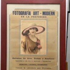 Cámara de fotos: CARTEL FOTOGRAFÍA ART - MODERN VILLAFRANCA DEL PANADÉS PUBLICIDAD AÑOS 20. Lote 217300736