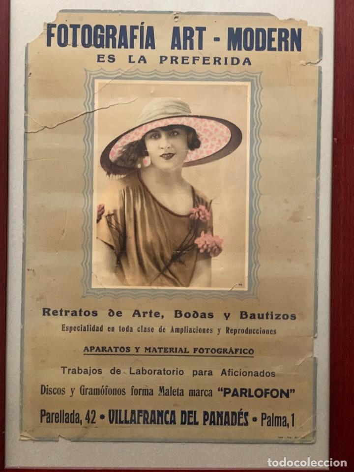 Cámara de fotos: CARTEL FOTOGRAFÍA ART - MODERN VILLAFRANCA DEL PANADÉS PUBLICIDAD AÑOS 20 - Foto 2 - 217300736