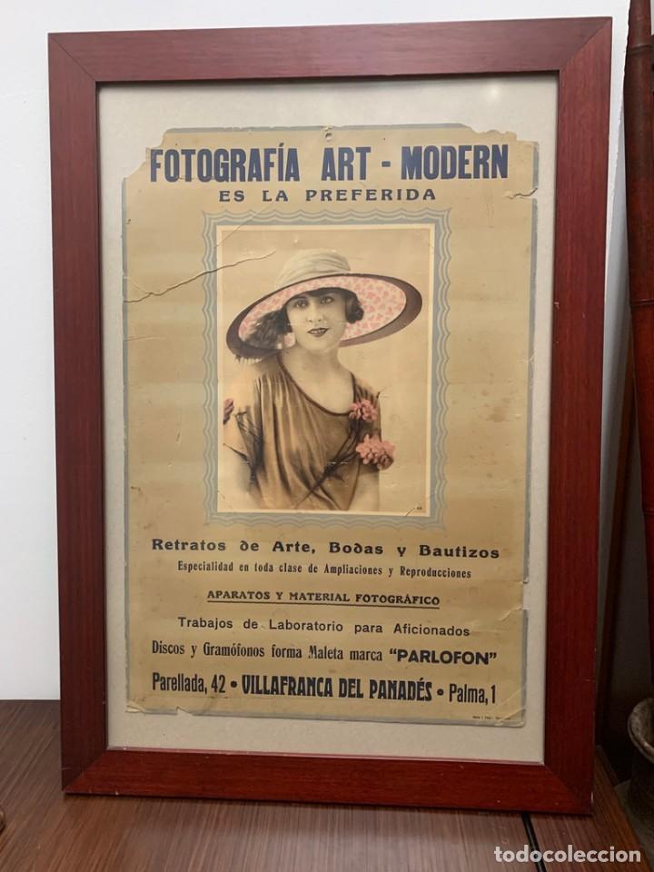 Cámara de fotos: CARTEL FOTOGRAFÍA ART - MODERN VILLAFRANCA DEL PANADÉS PUBLICIDAD AÑOS 20 - Foto 3 - 217300736