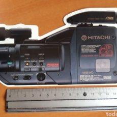 Cámara de fotos: PEGATINA DE VIDEO-CAMARA HITACHI FERIA DE SONIMAG 89. Lote 217544987