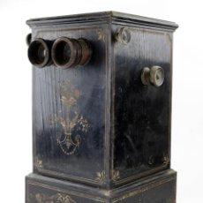 Cámara de fotos: VISOR ESTEREOSCÓPICO DE SOBREMESA CA. 1860. PARA VISTAS DE CARTÓN Y CRISTALES 9X18 CM.. Lote 217979586
