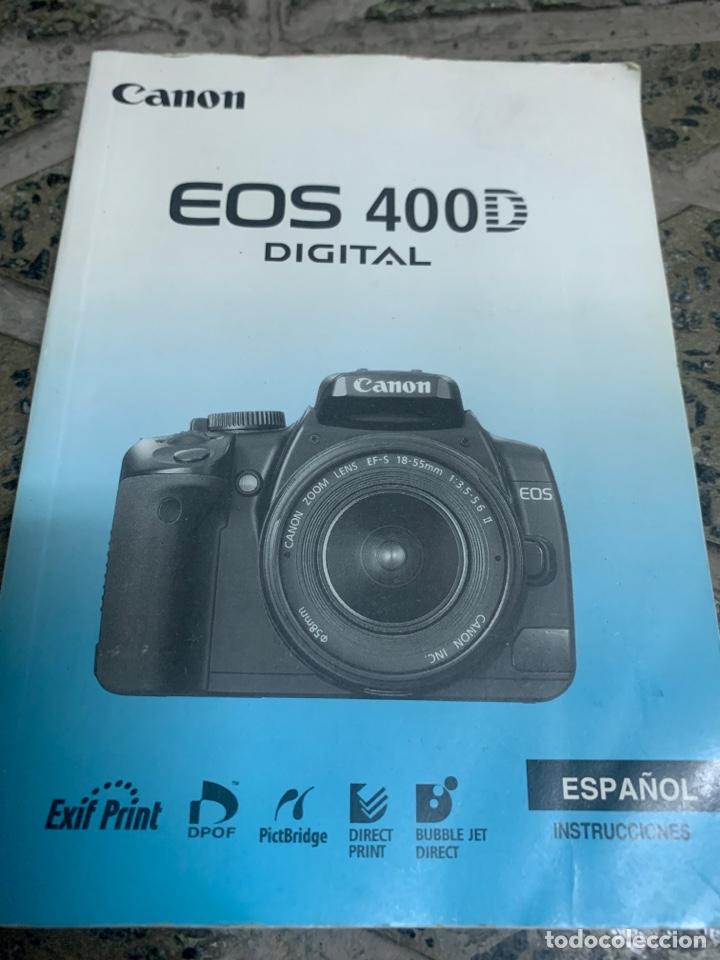 MANUAL CANON EOS 400 D (Cámaras Fotográficas - Catálogos, Manuales y Publicidad)