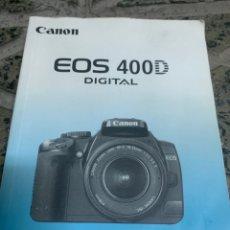 Cámara de fotos: MANUAL CANON EOS 400 D. Lote 218235677