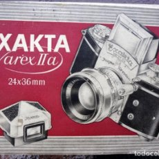Cámara de fotos: MANUAL EXAKTA VAREX II A .EXCEPCIONAL.EN FRANCÉS.. Lote 218595775