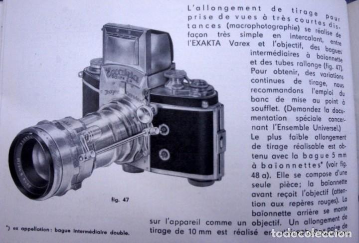 Cámara de fotos: Manual Exakta Varex II a .Excepcional.En Francés. - Foto 10 - 218595775