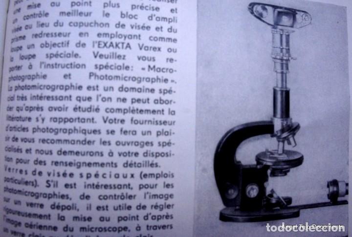 Cámara de fotos: Manual Exakta Varex II a .Excepcional.En Francés. - Foto 14 - 218595775