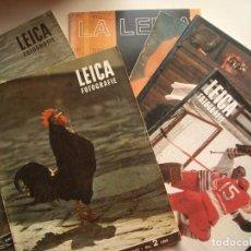 Cámara de fotos: LOTE DE REVISTAS LEICA. Lote 218864178