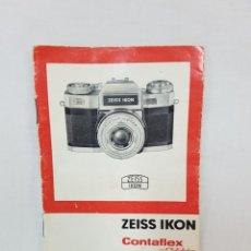 Cámara de fotos: MANUAL ORIGINAL DE CONTAFLEX SUPER DE LOS 60.. Lote 219084590