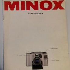 Cámara de fotos: CATÁLOGO DE 1990 CÁMARA DE FOTOS MINOX 35 LX PLATINO AX EC M D C ML GSE GT-E. Lote 219735825