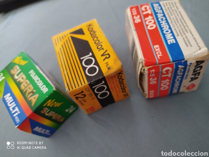 Cámara de fotos: 3 carretes pelicula 35 mm. Superia, Kodak color y Agfachrome - Foto 3 - 220269346