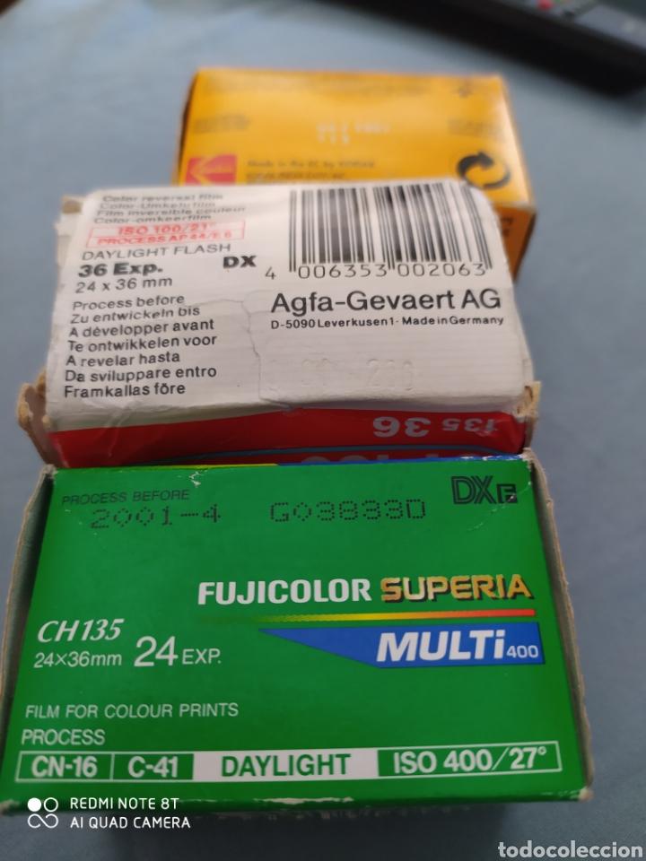 Cámara de fotos: 3 carretes pelicula 35 mm. Superia, Kodak color y Agfachrome - Foto 6 - 220269346