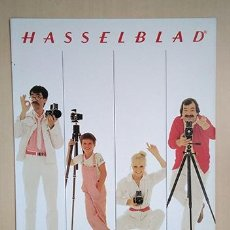 Cámara de fotos: TRÍPTICO SISTEMA HASSELBLAD, CASTELLANO, 1982. 28 X 21 CM. 6 PÁGINAS. Lote 221148246