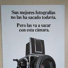 Cámara de fotos: HASSELBLAD 2000FC/M. 28 X 21 CM. 8 PÁGINAS. Lote 221503240