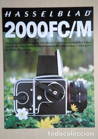 HASSELBLAD 2000FC/M. 28 X 21 CM. 12 PÁGINAS (Cámaras Fotográficas - Catálogos, Manuales y Publicidad)