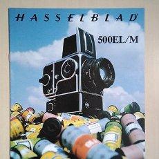 Cámara de fotos: HASSELBLAD 500EL/M. 1980. 28 X 21 CM. 16 PÁGINAS. Lote 221503417