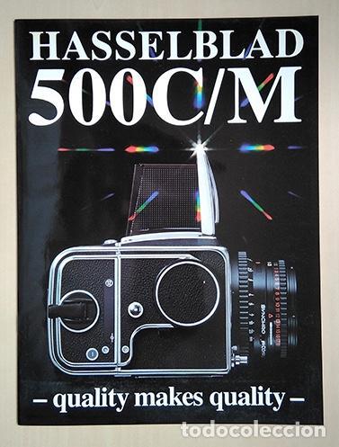 HASSELBLAD 500C/M. 28 X 21 CM. 12 PÁGINAS (Cámaras Fotográficas - Catálogos, Manuales y Publicidad)