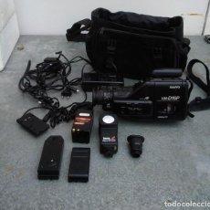 Cámara de fotos: VIDEO CAMARA ANTIGUA MARCA SANYO VM-D16P INCLUYE MALETÍN Y ACCESORIOS. Lote 221655617
