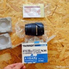 Cámara de fotos: OBJETIVO TAMRON AF 18-200 MM PARA CANON. Lote 222015517