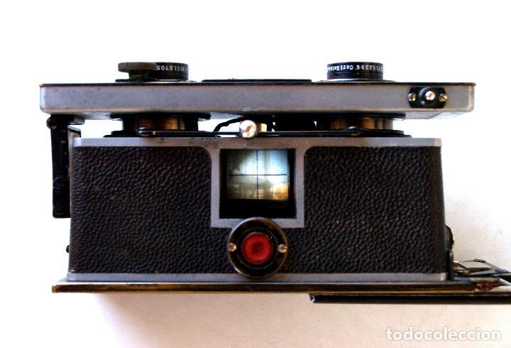 Cámara de fotos: *c1909* • Zulauf (Zurich) POLYSCOP II Type 1 Tessare f4.5 • Estereográfica antigua 45x107mm (Funda) - Foto 4 - 222079105
