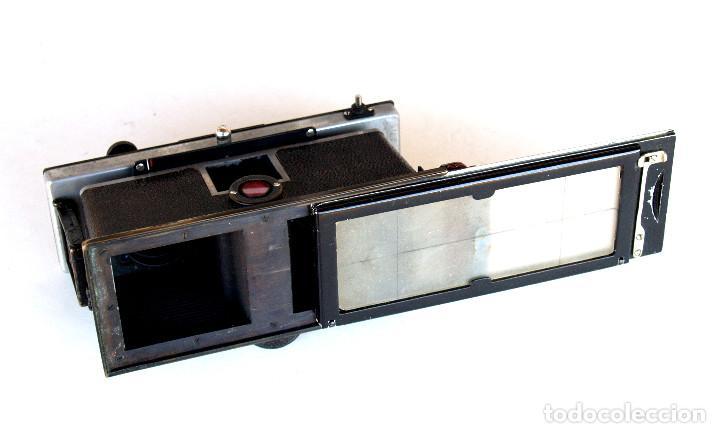 Cámara de fotos: *c1909* • Zulauf (Zurich) POLYSCOP II Type 1 Tessare f4.5 • Estereográfica antigua 45x107mm (Funda) - Foto 5 - 222079105