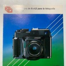 Cámara de fotos: CATALOGO CÁMARA DE FOTOS FUJI FILM GS645S GS 645 S DE 1984. Lote 222382962