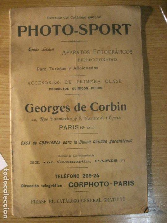 REVISTA CATALOGO PHOTO - SPORT . APARATOS FOTOGRAFICOS ACCESOIOS . CORBIN . EXTRACTO . (Cámaras Fotográficas - Catálogos, Manuales y Publicidad)