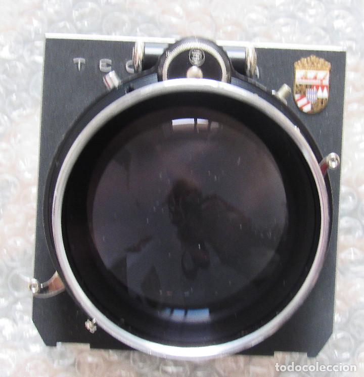 360MM F5,5 SCHNEINDER TELE-XENAR TECHNIKA LENS. COMPOUND SHUTTER, LENS BOARD, CAPS, VERY CLEAN (Cámaras Fotográficas - Otras)