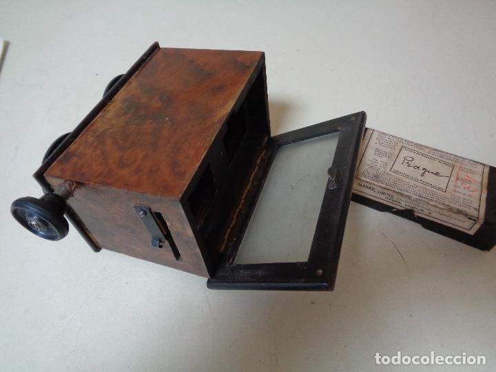Cámara de fotos: cámara estereoscopia Renis madera caoba - Foto 2 - 226047008