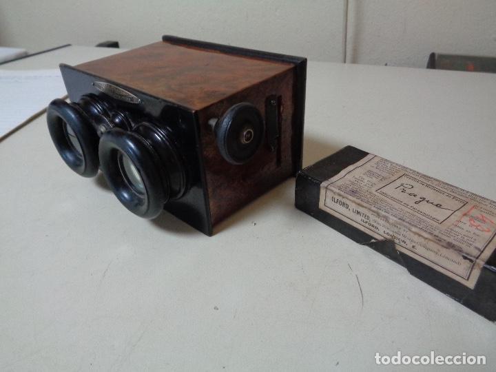 Cámara de fotos: cámara estereoscopia Renis madera caoba - Foto 4 - 226047008