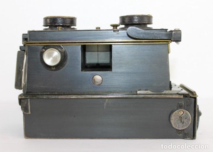 Cámara de fotos: Cámara estereoscópica Verascope de Jule Richard con gran cantidad de accesorios. Paris 1900 - Foto 6 - 226098550