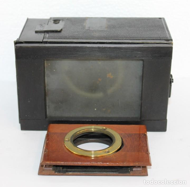 Cámara de fotos: Cámara estereoscópica Verascope de Jule Richard con gran cantidad de accesorios. Paris 1900 - Foto 8 - 226098550