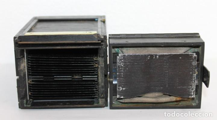 Cámara de fotos: Cámara estereoscópica Verascope de Jule Richard con gran cantidad de accesorios. Paris 1900 - Foto 12 - 226098550