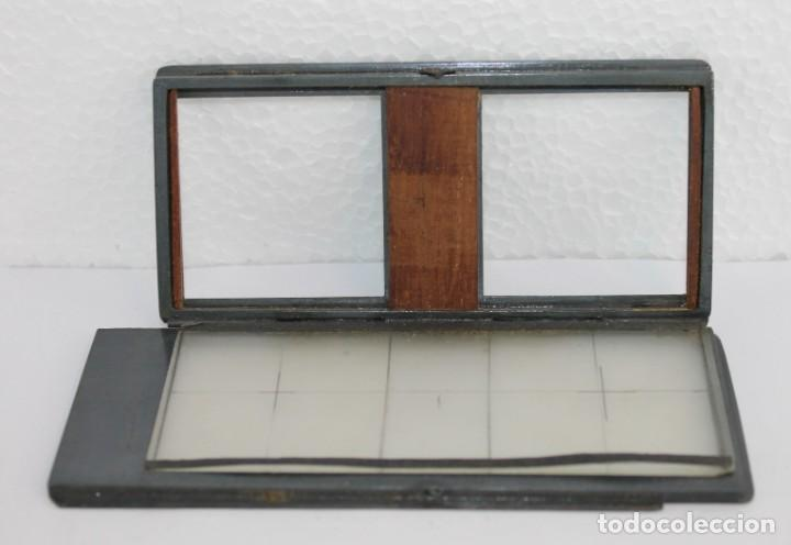 Cámara de fotos: Cámara estereoscópica Verascope de Jule Richard con gran cantidad de accesorios. Paris 1900 - Foto 13 - 226098550