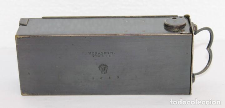Cámara de fotos: Cámara estereoscópica Verascope de Jule Richard con gran cantidad de accesorios. Paris 1900 - Foto 18 - 226098550