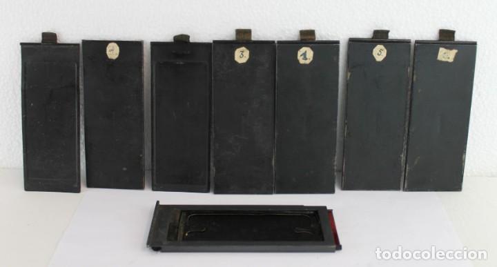 Cámara de fotos: Cámara estereoscópica Verascope de Jule Richard con gran cantidad de accesorios. Paris 1900 - Foto 19 - 226098550