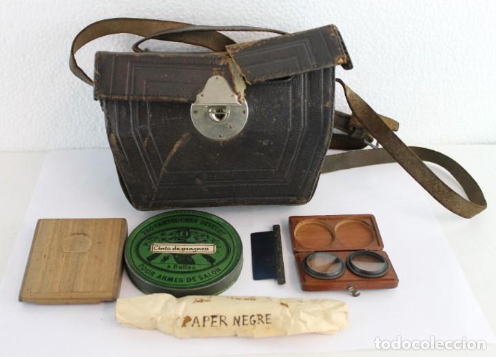 Cámara de fotos: Cámara estereoscópica Verascope de Jule Richard con gran cantidad de accesorios. Paris 1900 - Foto 24 - 226098550