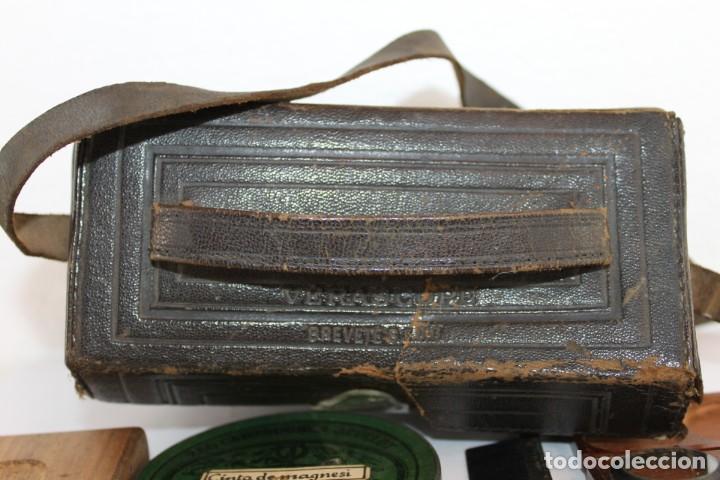 Cámara de fotos: Cámara estereoscópica Verascope de Jule Richard con gran cantidad de accesorios. Paris 1900 - Foto 28 - 226098550