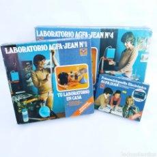 Cámara de fotos: GRAN LOTE LABORATORIO FOTOGRÁFICO AGFA-JEAN, CON AMPLIADORA, NUNCA ANTES VENDIDO EN TODOCOLECCIÓN. Lote 226300250