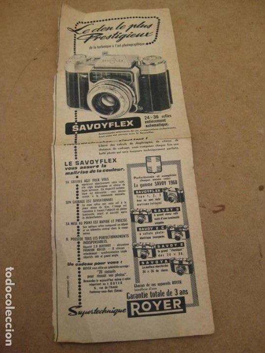 ANTIGUA PUBLICIDAD DE PERIODICO DE CAMARA DE FOTOS. SAVOY FLEX. FRANCIA. (Cámaras Fotográficas - Catálogos, Manuales y Publicidad)