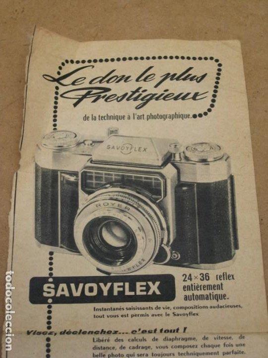 Cámara de fotos: Antigua publicidad de periodico de camara de fotos. Savoy Flex. Francia. - Foto 2 - 227072379