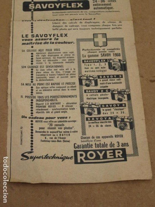 Cámara de fotos: Antigua publicidad de periodico de camara de fotos. Savoy Flex. Francia. - Foto 3 - 227072379