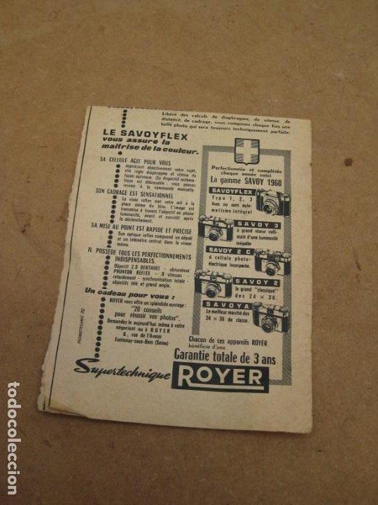Cámara de fotos: Antigua publicidad de periodico de camara de fotos. Savoy Flex. Francia. - Foto 5 - 227072379