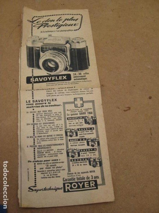 Cámara de fotos: Antigua publicidad de periodico de camara de fotos. Savoy Flex. Francia. - Foto 6 - 227072379
