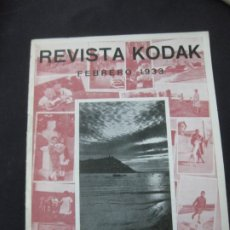 Cámara de fotos: REVISTA KODAK Nº 98. FEBRERO DE 1933. LA FOTOGRAFIA EN INVIERNO. TITULADOR CINE KODAK.. Lote 228261140