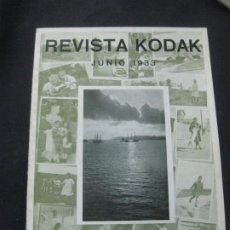 Cámara de fotos: REVISTA KODAK Nº 100. JUNIO 1933. FOTOGRAFIAS DE IMAGENES REFLEJADAS. EL NUEVO CINE KODAK MOD. K.. Lote 228261495