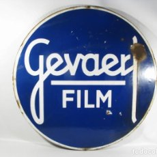 Cámara de fotos: CARTEL ESMALTADO GEVAERT FILM, CHAPA ESMALTADA GEVAERT. Lote 228863420